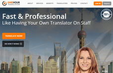 OneHourTranslation.com screenshot