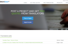 Translatorsbase.com screenshot